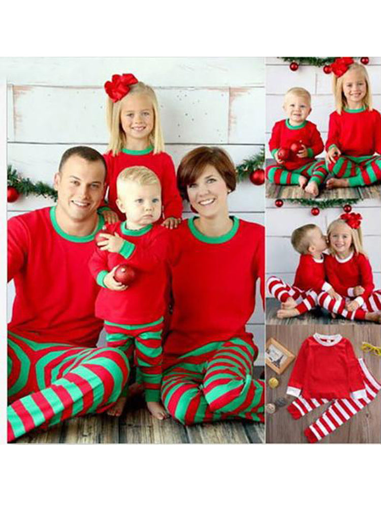 f4e64d55f Winter Family Christmas Pajamas Stripes Mother Father Son Baby New Year  Costume