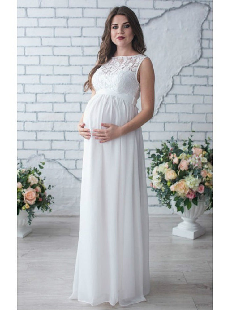 Fancy Lace Party Maternity Formal Dress