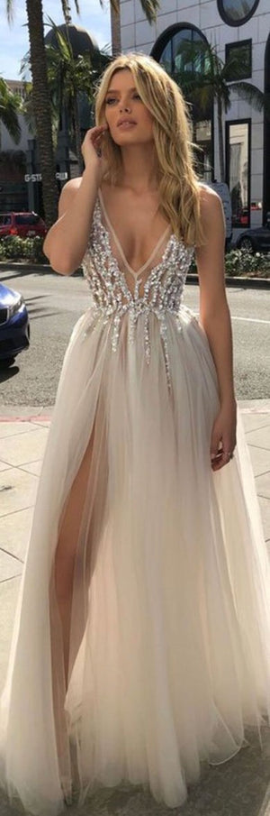 LYNDA crystal prom dress