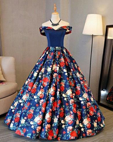 ZAMORA flower prom dress