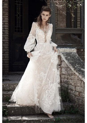 EVELYN bohemain wedding dress