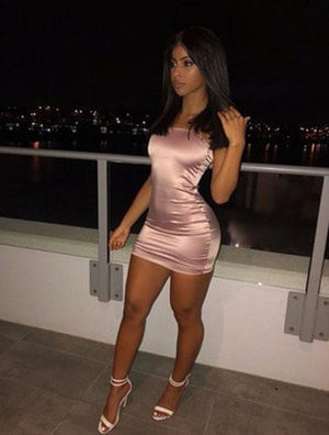LEONOR bodycon satin dress