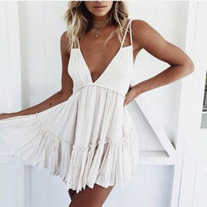 LAURIE backless ruffle dress