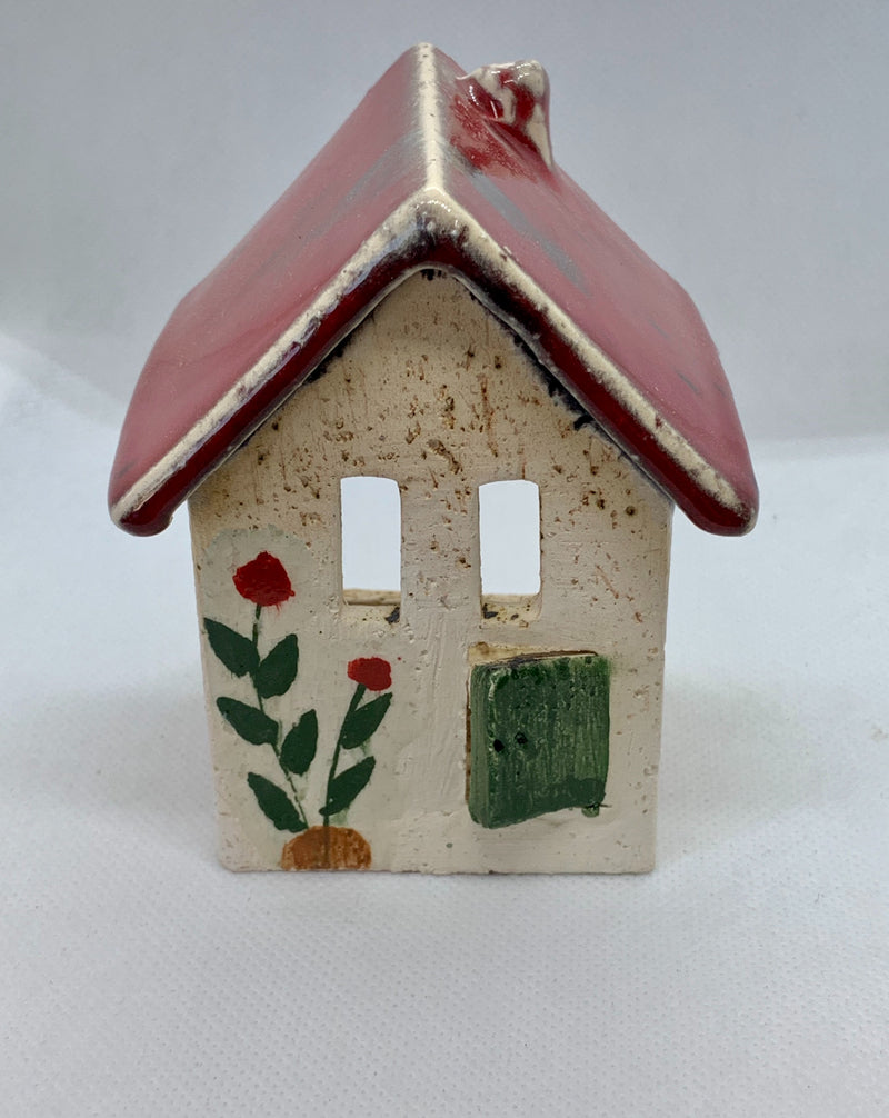Handmade Ceramic Candleholder in the Shape of a House
