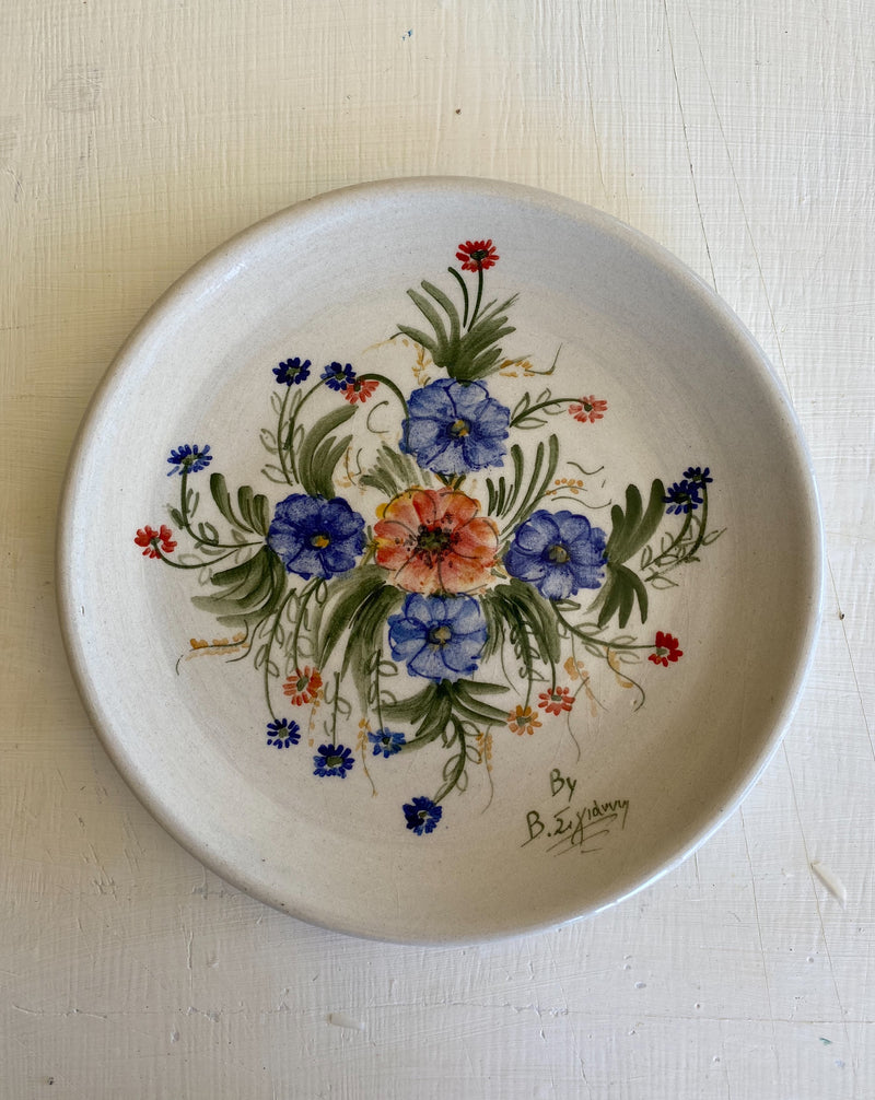 ceramic plate with flowers