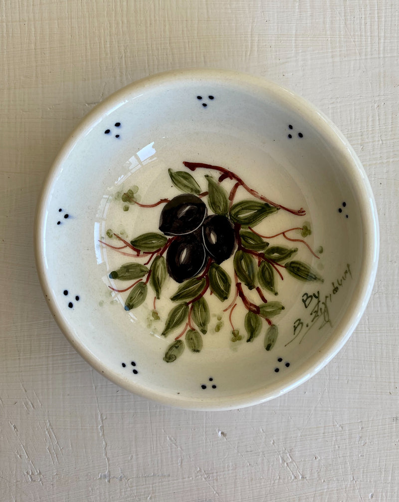 ceramic bowl with olives