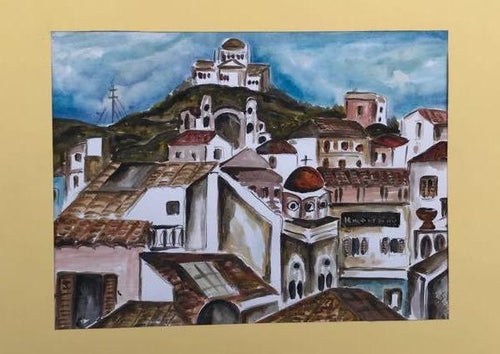 The Centre of the City Watercolor Painting