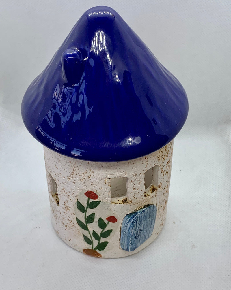 Blue Ceramic Candle Holder