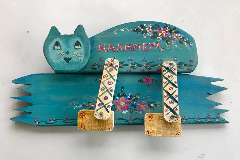 Wooden Handmade Cat