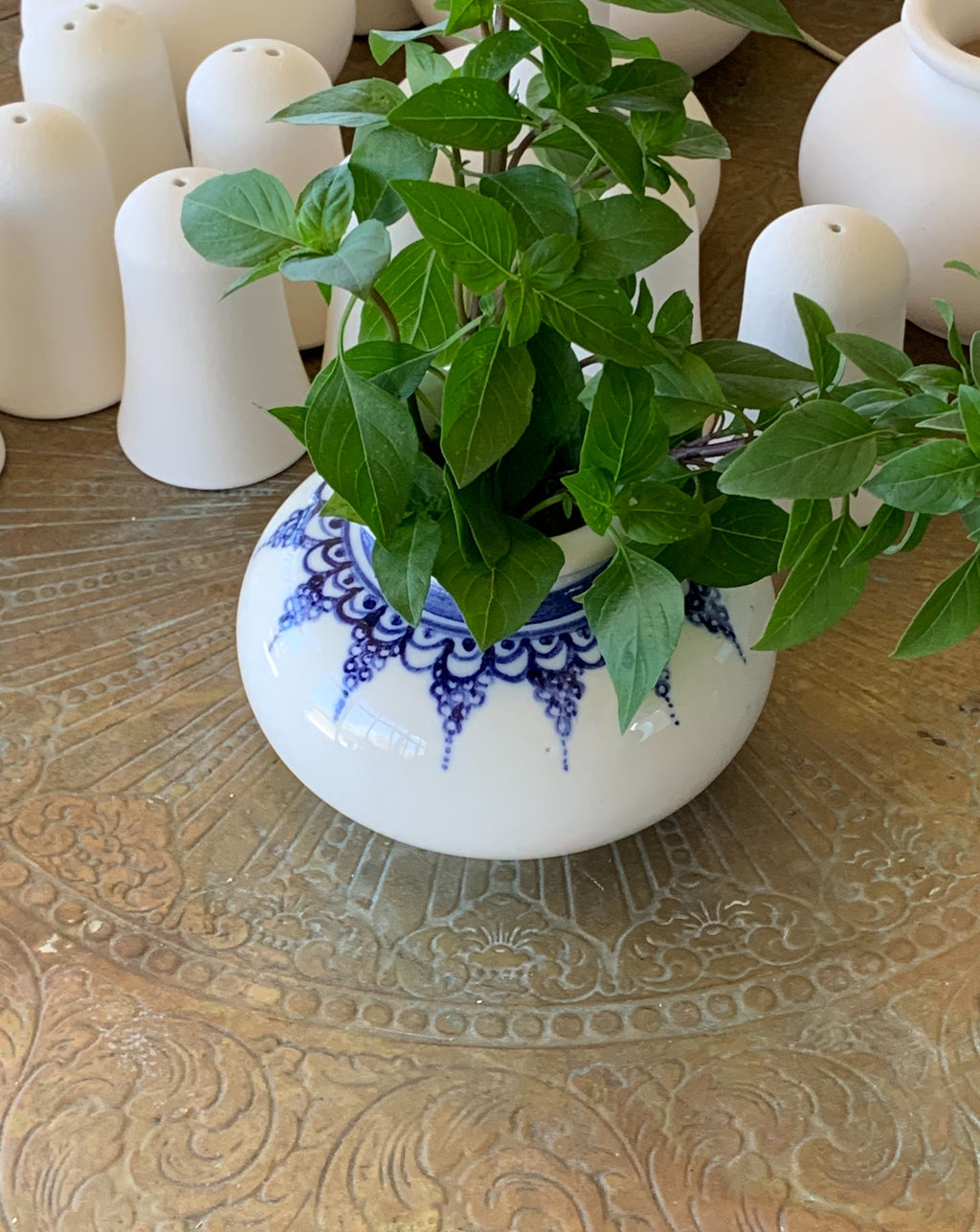 cobalt blue ceramic vase