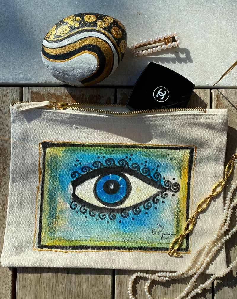 hand-painted accessory bag