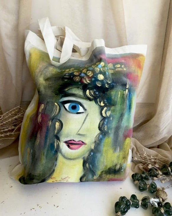 Hand Painted Beach Bag