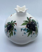 Load image into Gallery viewer, white ceramic pomegranate with olives