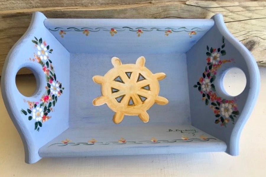 Nautical Wooden Bread Basket