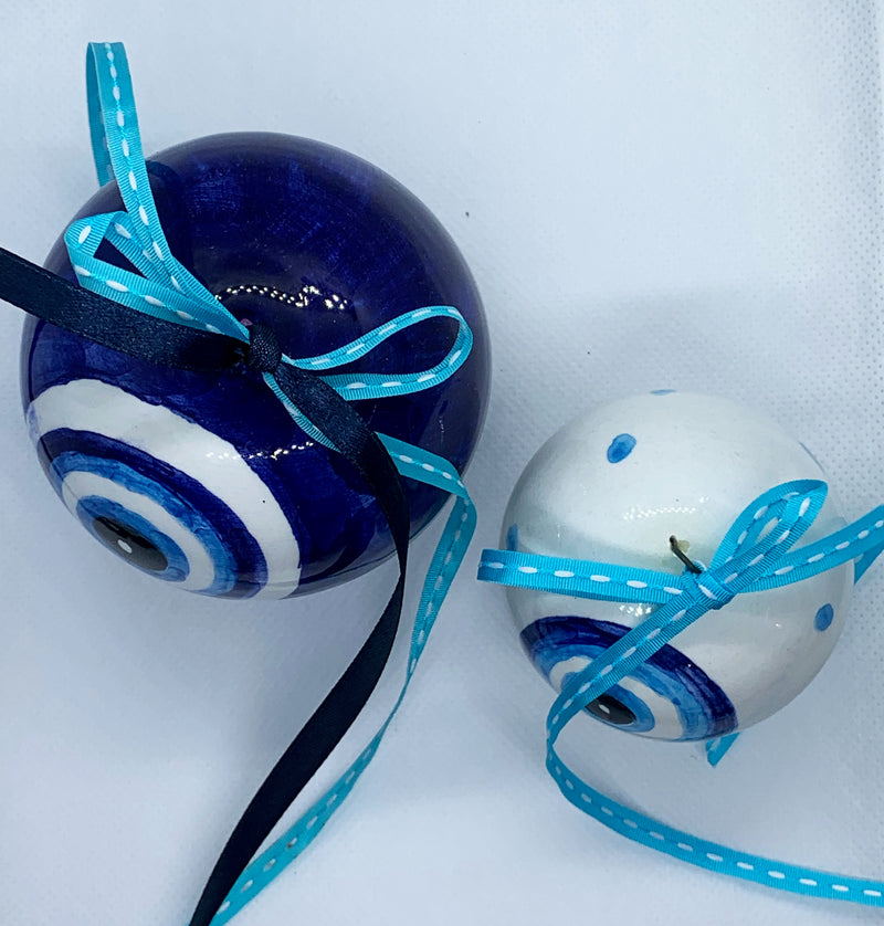 handmade blue white ceramic greece