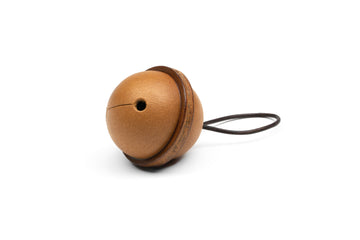 Leather Bell Tree Ornament - (Whiskey)