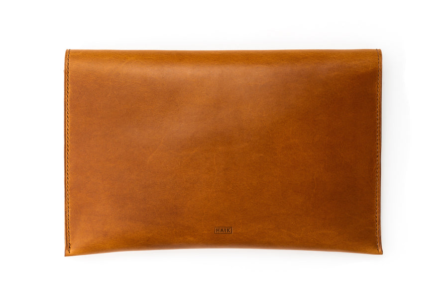 Leather Clutch - 10 Inch Magnetic Clutch - (Whiskey Buttero)