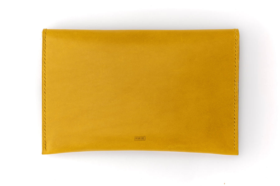 Leather Clutch - 7 Inch Magnetic Clutch - (Yellow Buttero)