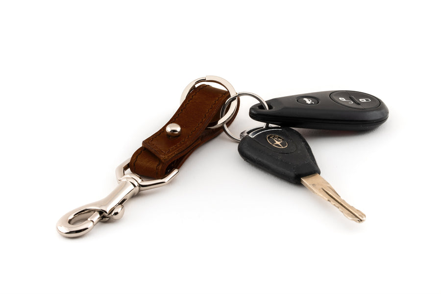 Leather Key Fob - (Brown Buttero)