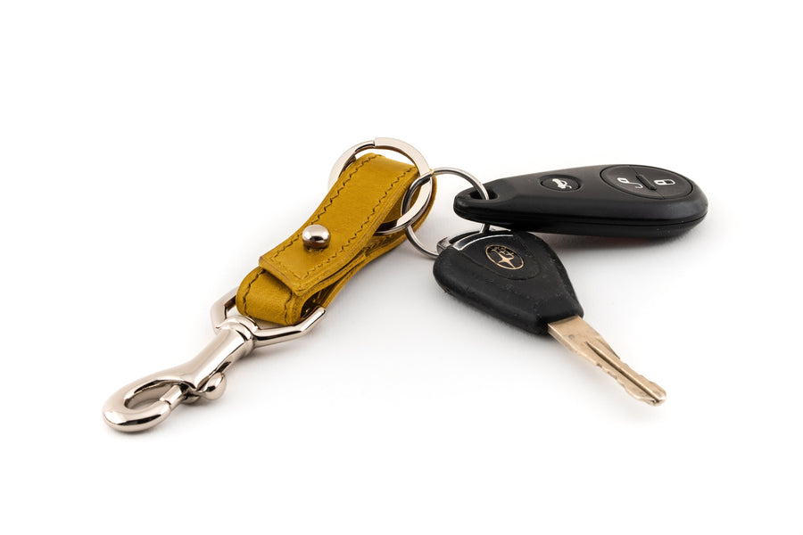 Leather Key Fob - (Yellow Buttero)