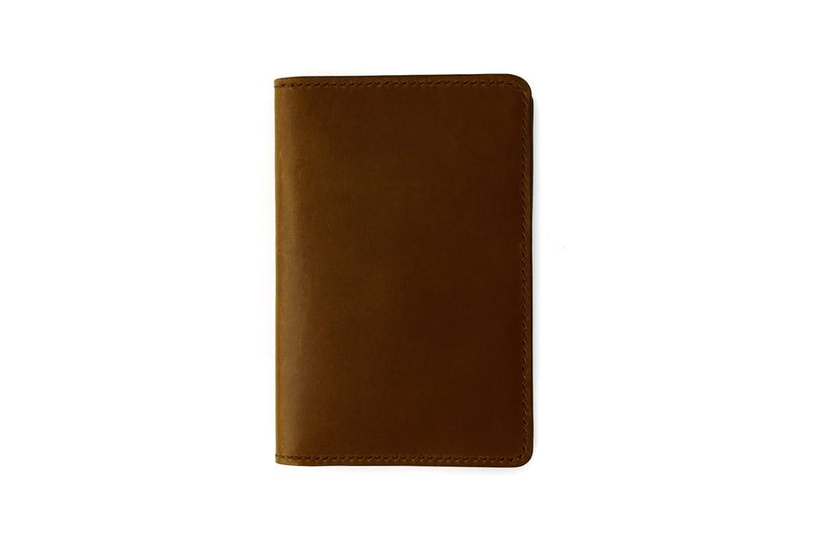 Leather Notebook Holder - Notebook & Passport Holder - (Brown Buttero)