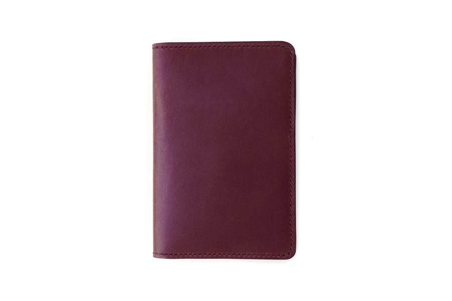 Leather Notebook Holder - Notebook & Passport Holder - (Violet Buttero)