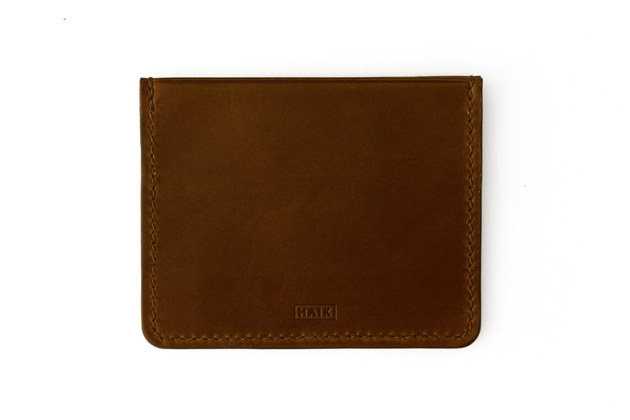 Leather Wallet - 4 Slot Card Case - (Brown Buttero)