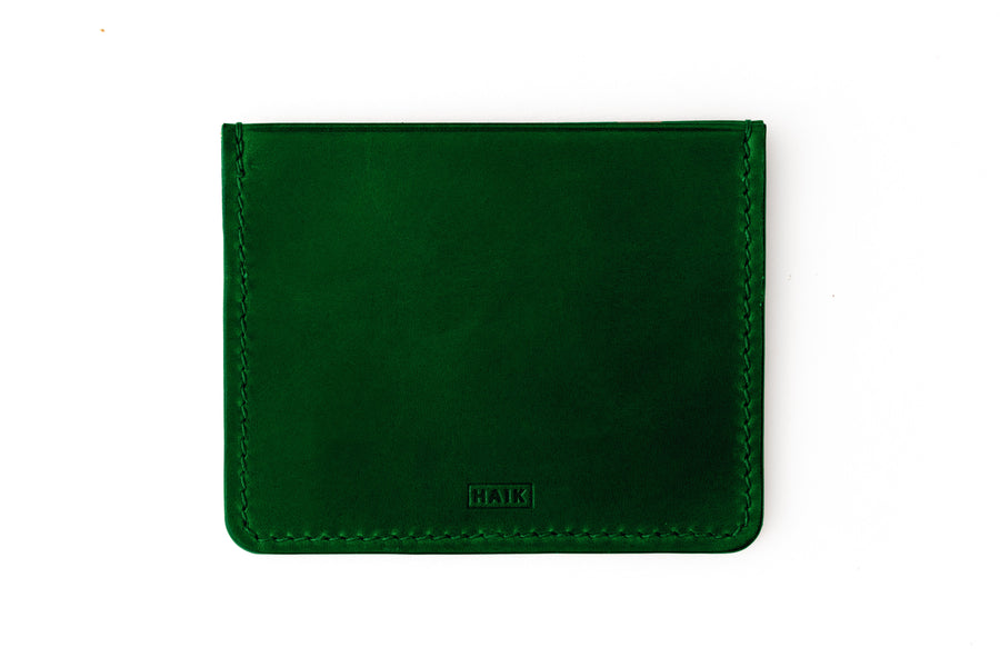 Leather Wallet - 4 Slot Card Case - (Green Buttero)