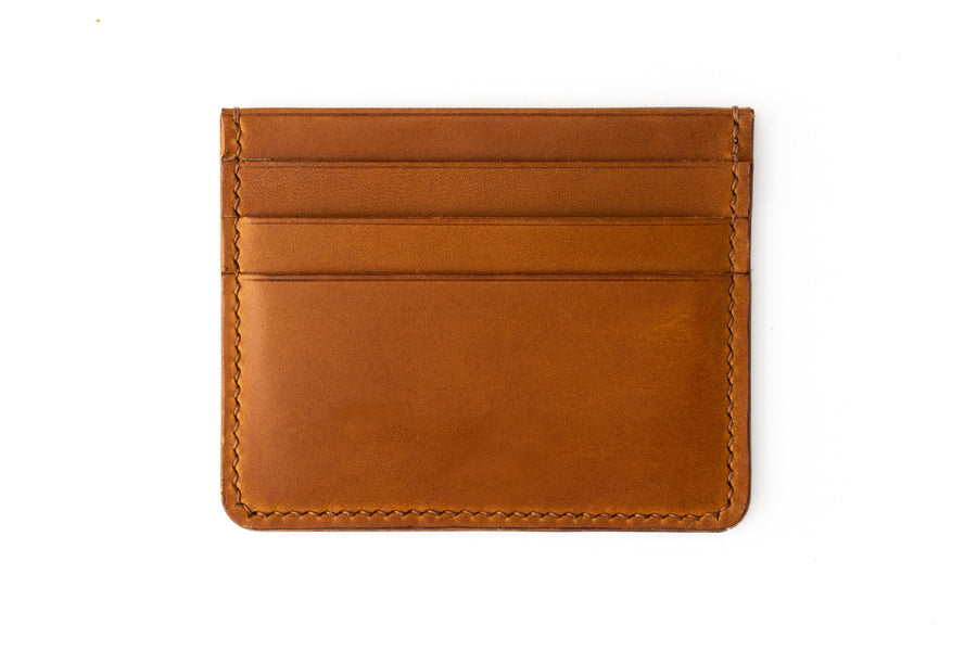 Leather Wallet - 4 Slot Card Case - (Whiskey Buttero)