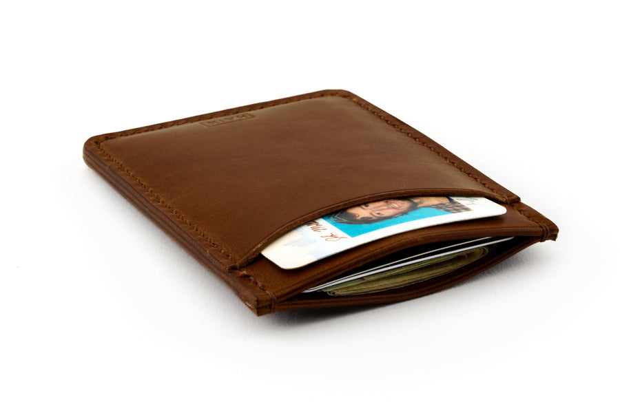 Leather Wallet - Card Holder - (Brown Buttero)