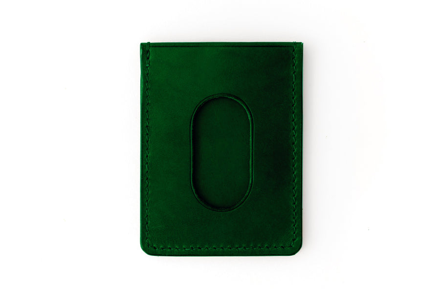 Leather Wallet - Card Holder - (Green Buttero)