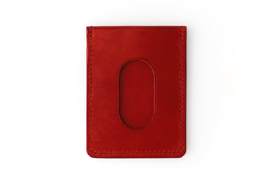 Leather Wallet - Card Holder - (Red Buttero)