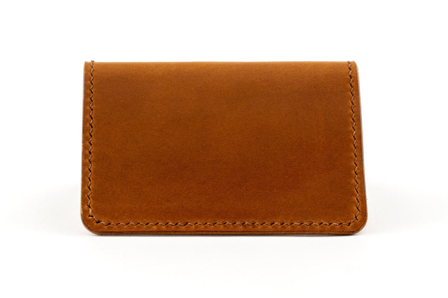 Leather Wallet - Folding Card Holder - (Whiskey Buttero)