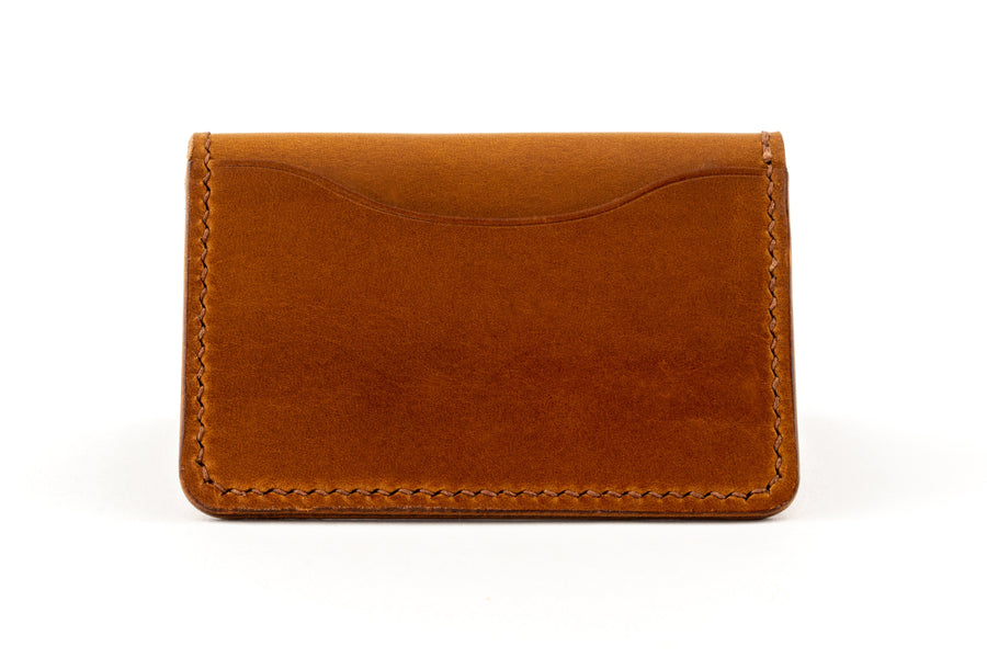 Leather Wallet- Folding Card Holder - (Whiskey Buttero)