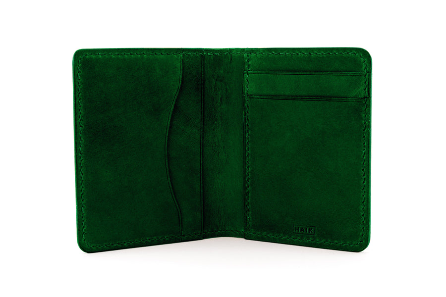 Leather Wallet - Folding Wallet - (Green Buttero)