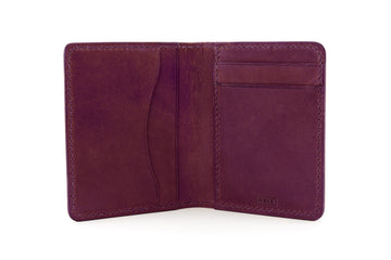 Leather Wallet - Folding Wallet - (Violet Buttero)