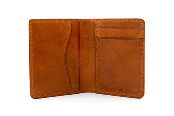 Leather Wallet - Folding Wallet - (Whiskey Buttero)