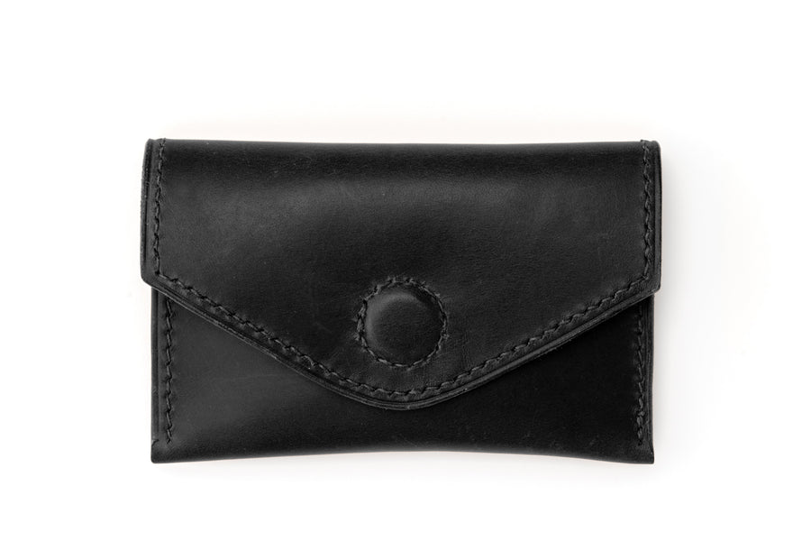 Leather Wallet - Magnetic Card Holder - (Black Buttero)