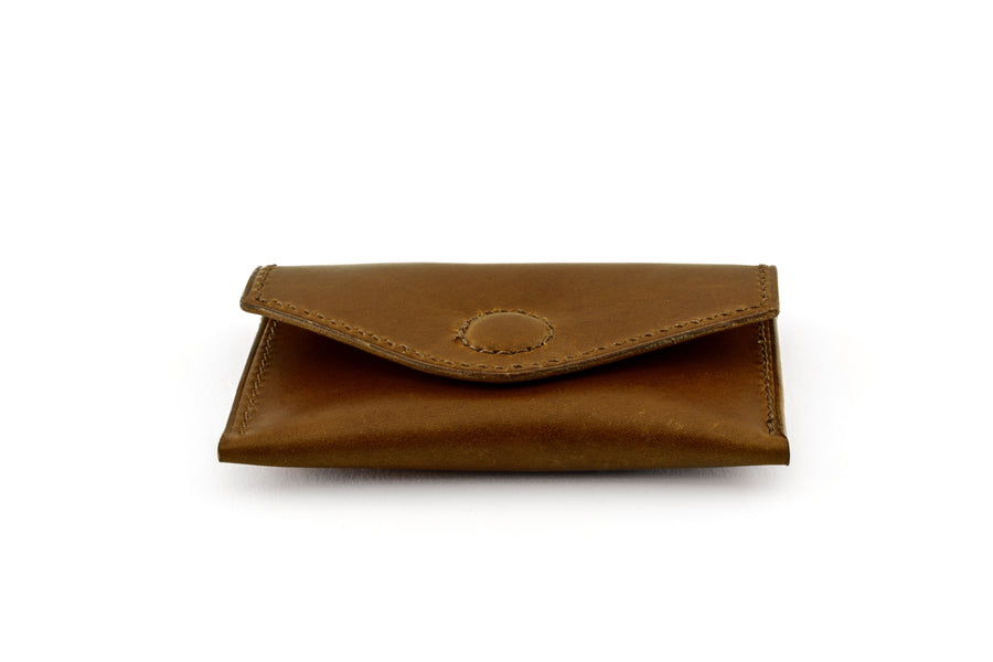 Leather Wallet - Magnetic Card Holder - (Brown Buttero)