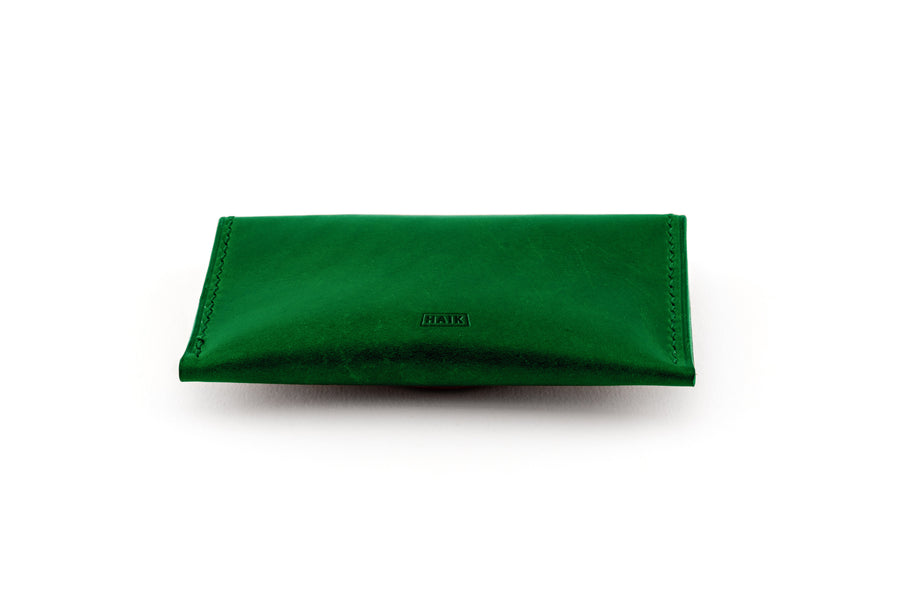 Leather Wallet - Magnetic Card Holder - (Green Buttero)