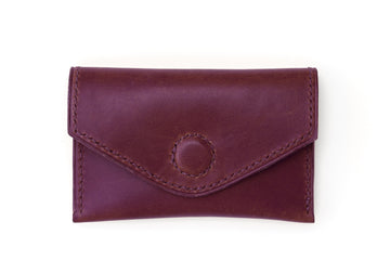 Leather Wallet - Magnetic Card Holder - (Violet Buttero)
