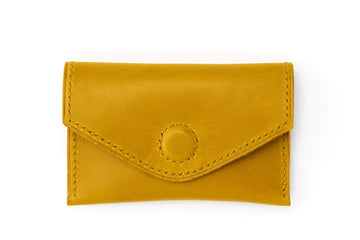 Leather Wallet - Magnetic Card Holder - (Yellow Buttero)