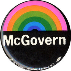 George McGovern Rainbow campaign button