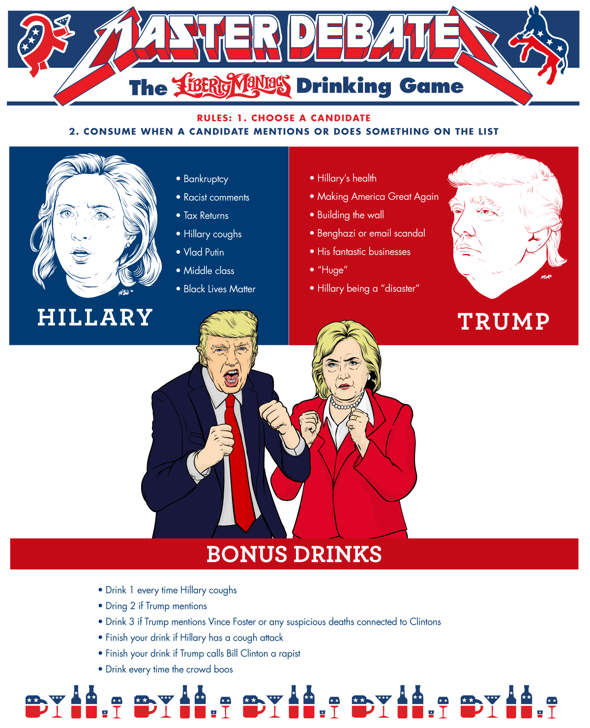 Liberty Maniacs Debate Drinking Game