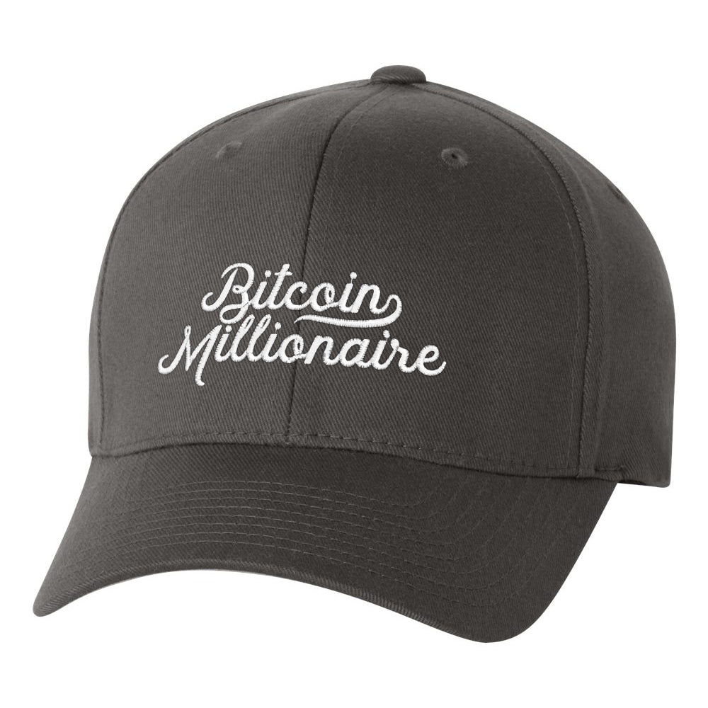 5c5abb88e8 Bitcoin Millionaire FlexFit Fitted Twill Cap - Liberty Maniacs