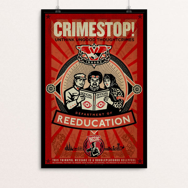 INGSOC 1984 Thought Crime CRIMESTOP Poster - Liberty Maniacs