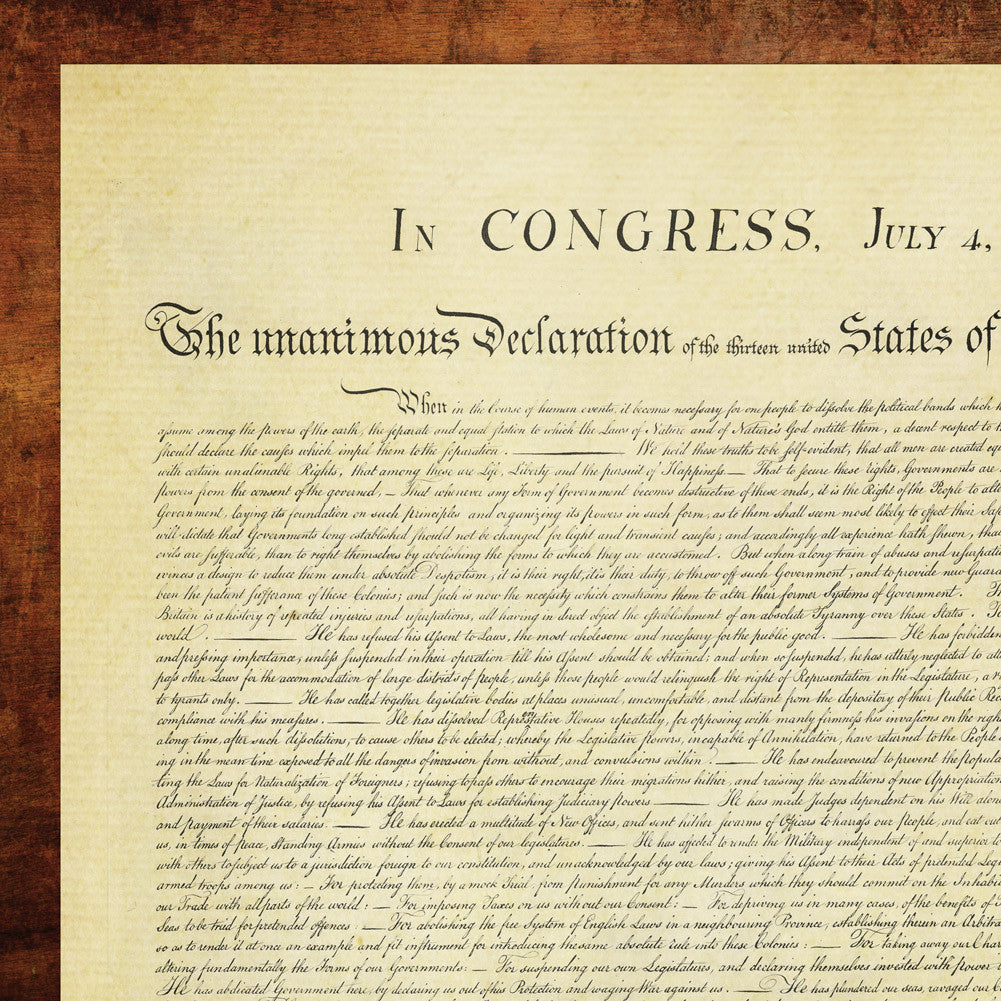 the united states declaration of independence retro poster wall stic Fq