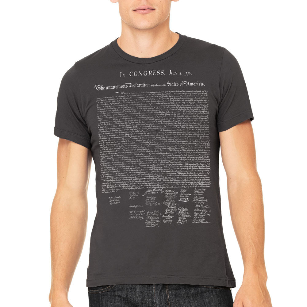 Declaration of independence t shirt liberty maniacs declaration of independence t shirt publicscrutiny Image collections