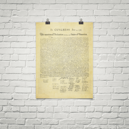 Declaration of independence print liberty maniacs declaration of independence print publicscrutiny Gallery