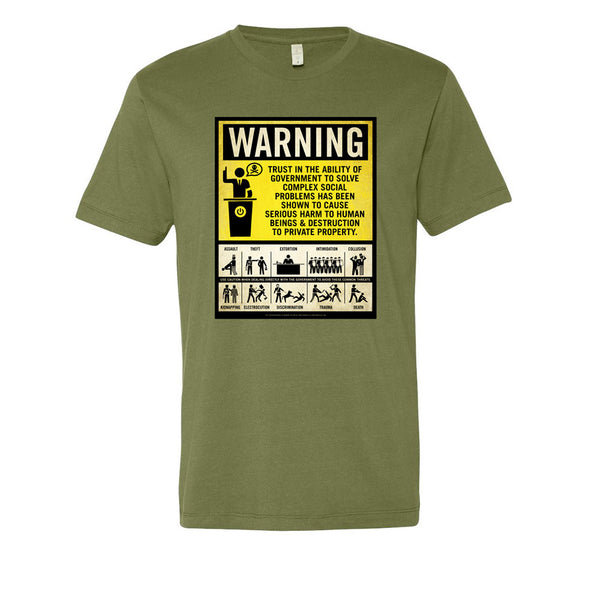 2b59c176 Government Warning Label Men's Graphic Tee - Liberty Maniacs